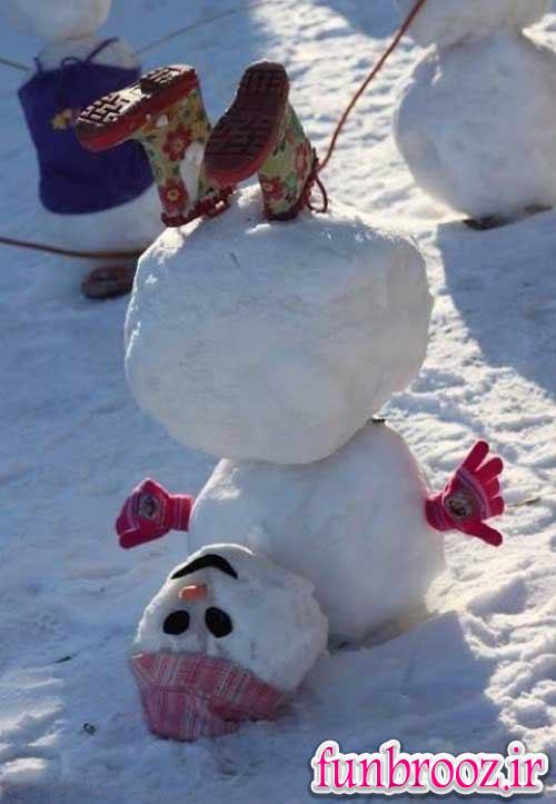 خلاقیت در ساخت آدم برفی
