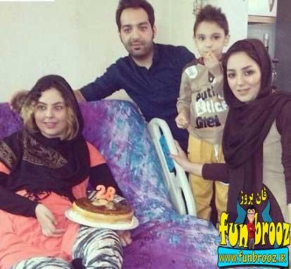 تصویری از احسان و سولماز بعد از تصادف