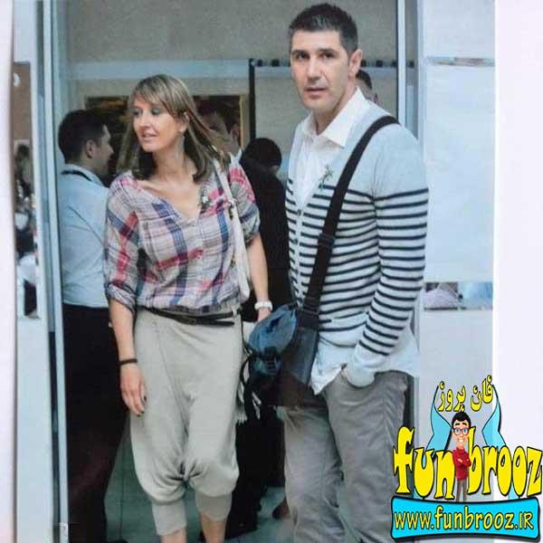 عکسی از اسلوبودان کواچ و همسرش