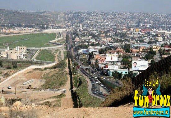 مرز بین مکزیک و آمریکا !