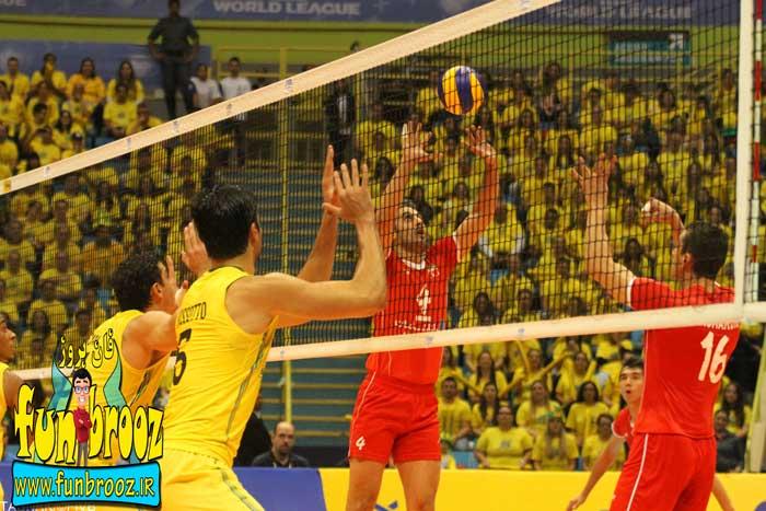 لیگ جهانی والیبال: ایران 3 - برزیل 1 / ایران به جمع 4 تیم برتر جهان پیوست
