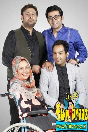 عکس احسان و سلماز با محمد علیزاده