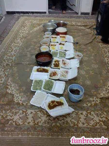 تلاش بی قفه جمع آوری غذا در شب های محرم