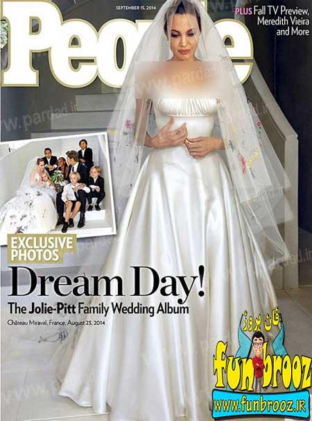 اولین تصاویر منتشر شده از مراسم عروسی آنجلینا جولی با برد پیت