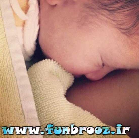 تصویری از دختر 4 روزه مهناز افشار